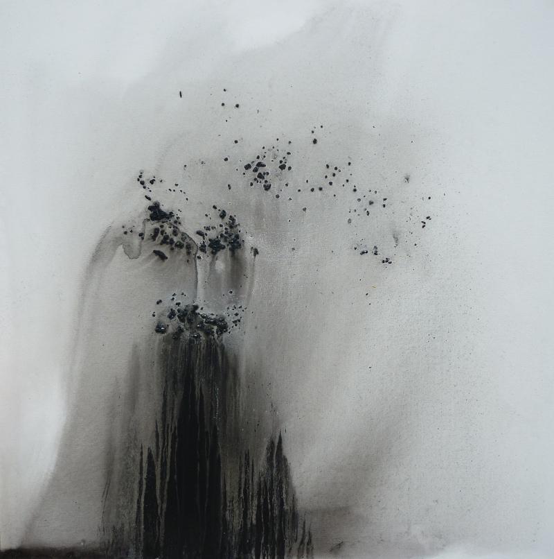 accession 90x90 technique mixte sur toile