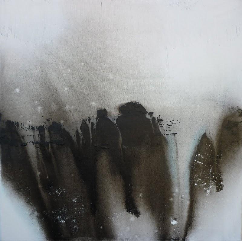 asbeste 60x60 technique mixte sur toile