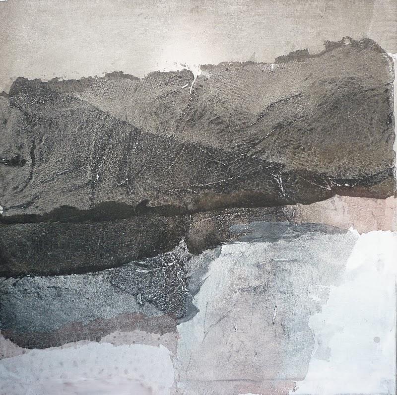 chrysolite 70x70 technique mixte sur toile