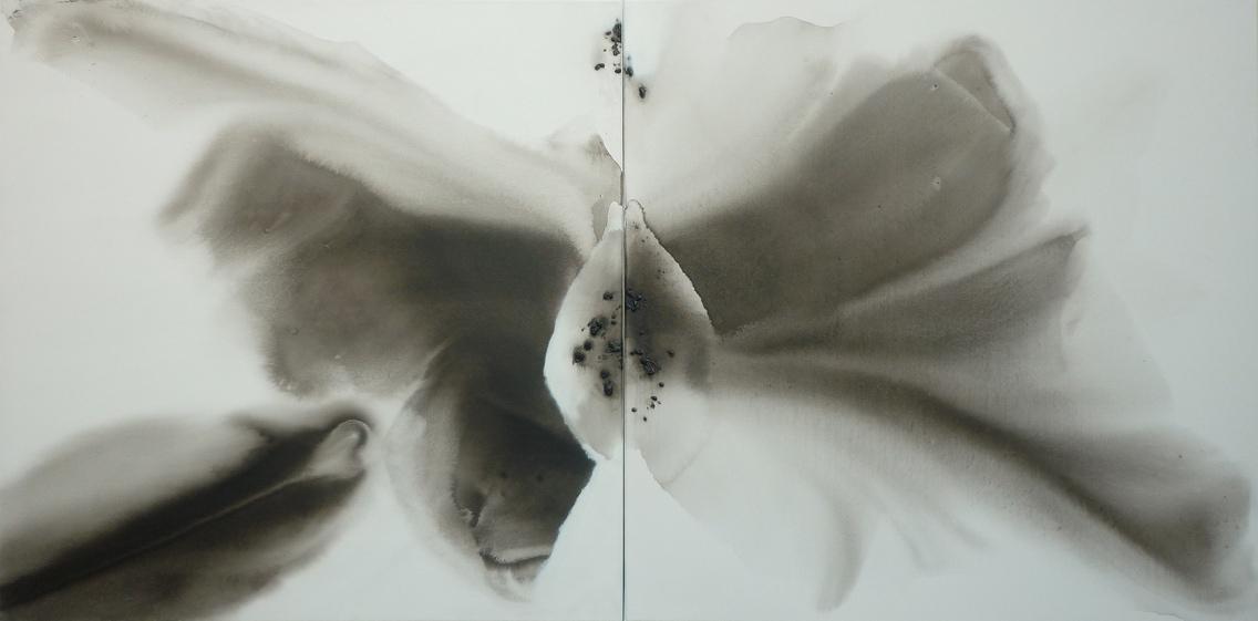 diptyque- technique mixte sur toile 2x90x90