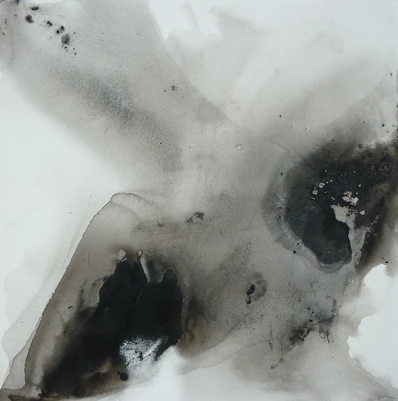 fission 90x90 technique mixte sur toile
