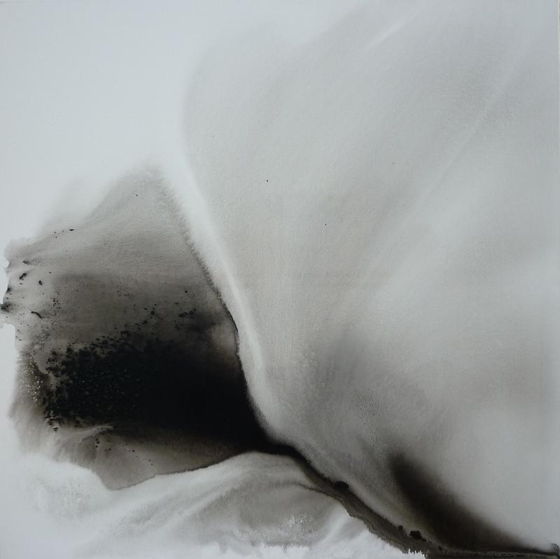 manta 90x90 technique mixte sur toile